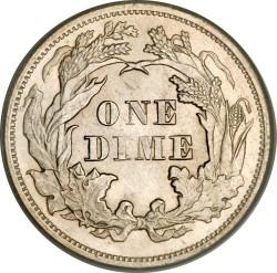 Moneda > 1dime, 1873-1874 - Estados Unidos  (Dime Libertad Sentada) - reverse