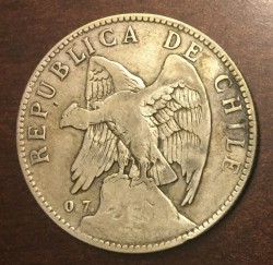 Pièce > 50centavos, 1902-1905 - Chili  - obverse