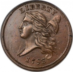 Coin > ½ cent, 1793 - USA  - obverse