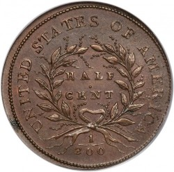 Coin > ½ cent, 1793 - USA  - reverse