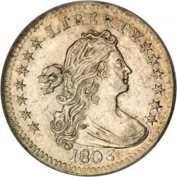 سکه > ½دایم, 1800-1805 - ایالات متحده آمریکا  (Draped Bust Half Dime) - obverse