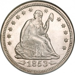 Munt > ¼ dollar, 1853 - Verenigde Staten  (Seated Liberty Quarter) - obverse