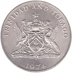 Monedă > 10dolari, 1974-1975 - Trinidad și Tobago  - obverse