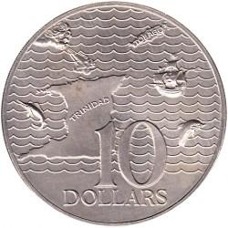 Monedă > 10dolari, 1974-1975 - Trinidad și Tobago  - reverse