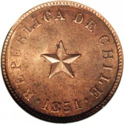 Moneta > ½centavo, 1851 - Cile  (Stella sollevata) - obverse