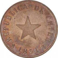 Moneta > 1sentavas, 1851 - Čilė  (Plokščia žvaigždė) - obverse