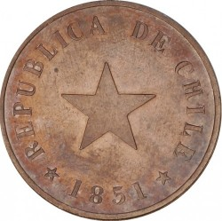 Moneta > 1centavo, 1851 - Cile  (Stella piatta) - obverse