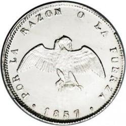 Monedă > ½decimo, 1851-1859 - Chile  - obverse