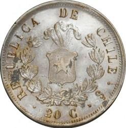 Moneta > 20sentavų, 1860-1862 - Čilė  - reverse