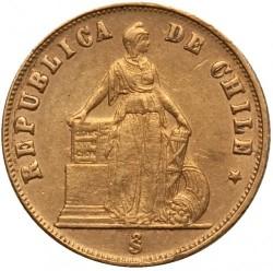 Moneta > 1pesas, 1867-1873 - Čilė  - obverse