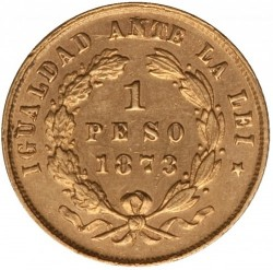 Moneta > 1pesas, 1867-1873 - Čilė  - reverse