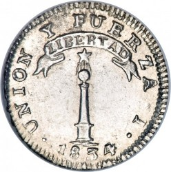 Монета > ½реала, 1833-1834 - Чилі  - reverse