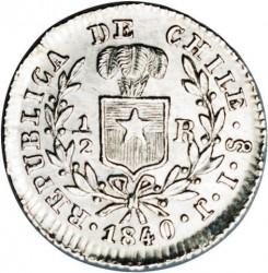 Монета > ½реала, 1838-1840 - Чилі  - obverse