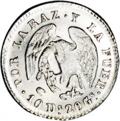 Монета > ½реала, 1838-1840 - Чилі  - reverse