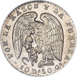 Münze > ½Real, 1844-1851 - Chile  - obverse