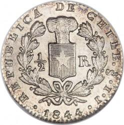 Монета > ½реала, 1844-1851 - Чилі  - obverse
