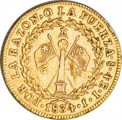 Монета > 4ескудо, 1824-1834 - Чилі  - reverse