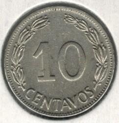 Moneda > 10centavos, 1964-1972 - Equador  - obverse