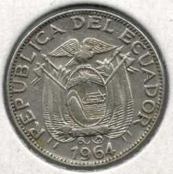 Moneda > 10centavos, 1964-1972 - Equador  - reverse