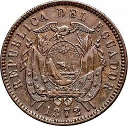 سکه > 2سنتاوو, 1872 - اکوادور  - obverse