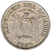 Кованица > 2цента, 1909 - Еквадор  - obverse