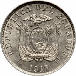 Pièce > 2½centavos, 1917 - Équateur  - obverse