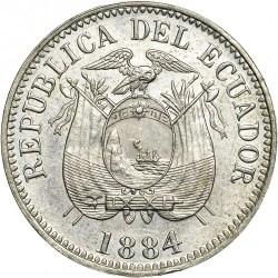 Pièce > ½decimo, 1884-1886 - Équateur  - obverse