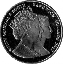 Mynt > 2pounds, 2012 - Sydgeorgien  (Life of Queen Elizabeth II - Elizabeth II with Hat) - obverse