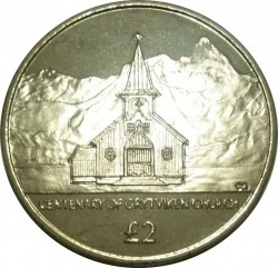 Кованица > 2фунте, 2013 - Јужна Џорџија  (100th Anniversary - Norwegian Lutheran Church) - reverse