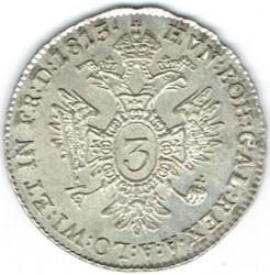 Монета > 3крейцера, 1815 - Австрія  - reverse