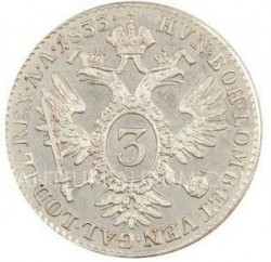 Монета > 3кройцера, 1831-1835 - Австрия  - reverse