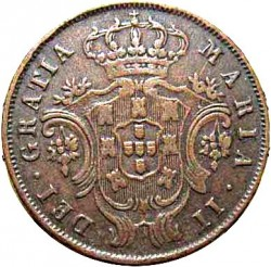 Moneta > 5realai, 1843 - Azorai  - obverse