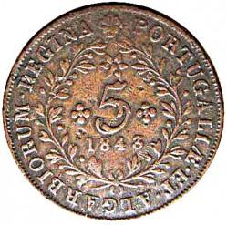 Moneta > 5realai, 1843 - Azorai  - reverse