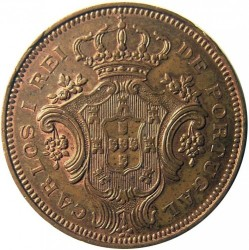 Monedă > 10reis, 1901 - Azore  - obverse