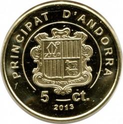 Moneta > 5sentimai, 2013 - Andora  - obverse