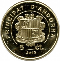 Moneta > 5sentimai, 2013 - Andora  - reverse
