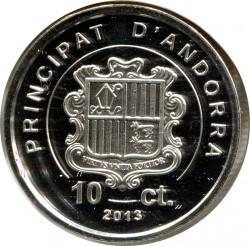 Mynt > 10cèntims, 2013 - Andorra  - reverse