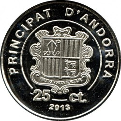 Moneta > 25sentimai, 2013 - Andora  - reverse