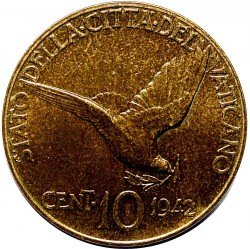 Moneta > 10centesimi, 1942-1946 - Watykan  - reverse