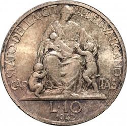 Moneta > 10lirów, 1942-1946 - Watykan  - reverse