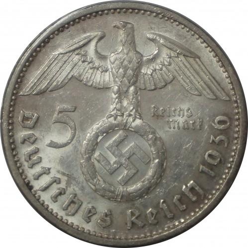 5 Reichsmark 1936 1939 Deutschland Drittes Reich Münzen Wert