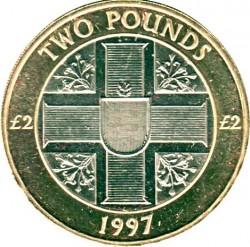 Moneta > 2svarai, 1997 - Gernsis  - reverse
