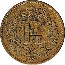 Moneda > ½skillingrigsmont, 1857 - Dinamarca  - obverse