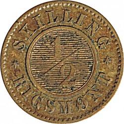 Moneda > ½skillingrigsmont, 1857 - Dinamarca  - reverse
