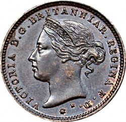 Coin > 1/48 shilling, 1877 - Jersey  - obverse
