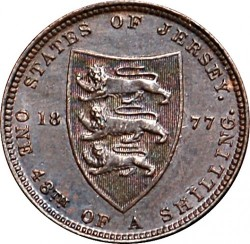 Coin > 1/48 shilling, 1877 - Jersey  - reverse