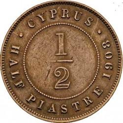 Moneda > ½piastre, 1908 - Xipre  - reverse