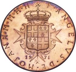 Νόμισμα > 10Γκράνι, 1971 - Κυρίαρχο Στρατιωτικό Τάγμα της Μάλτας  - obverse