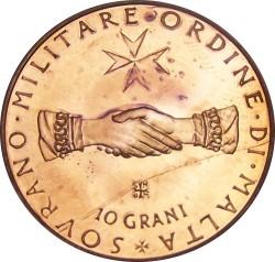 Νόμισμα > 10Γκράνι, 1971 - Κυρίαρχο Στρατιωτικό Τάγμα της Μάλτας  - reverse