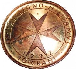Монета > 10грани, 1992 - Малтийски орден  - reverse